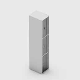 3 Portas Aço Fechadura Completo