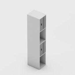 4 Portas Intercaladas Aço Fechadura Completo