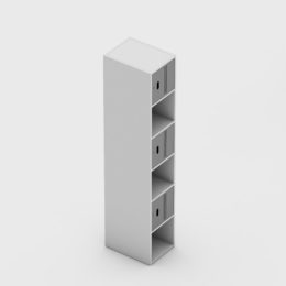 6 Portas Intercaladas Aço Fechadura Completo