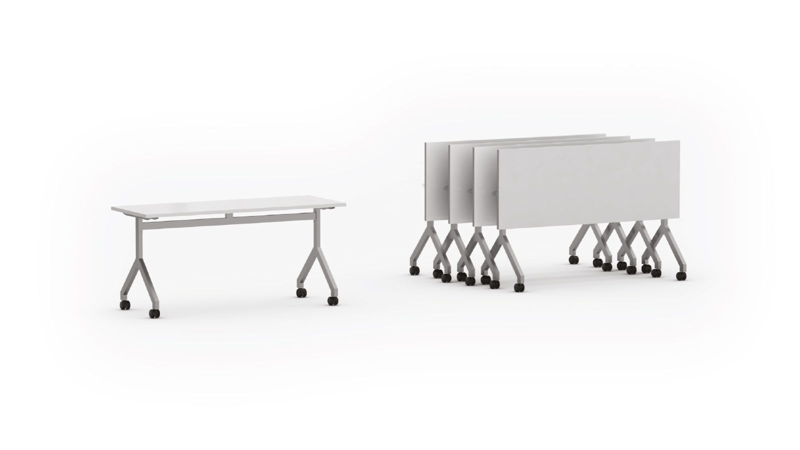 "Mesa rebatível retangular pé modelo ""Y"""